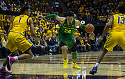 Feb 22 2017 - Berkeley, CA, U.S.A  Oregon forward Dillon Brooks (24)scored 22 points, 1 assist and 1 block drives to the basket during NCAA Men's Basketball game between Oregon Ducks and the California Golden Bears 68-65 win at Hass Pavilion Berkeley Calif. Thurman James / CSM