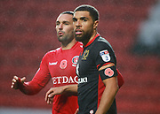 Milton Keynes Dons Scott Golbourne during the EFL Sky Bet League 1 match between Charlton Athletic and Milton Keynes Dons at The Valley, London, England on 18 November 2017. Photo by John Marsh.