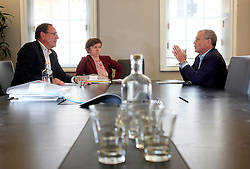 UK ENGLAND LONDON 15JUL15 - Sir Martin Sorrell, CEO of WPP plc reacts during an interview with Handelsblatt chief editor Hans-Jürgen Jakobs (L) and London correspondent Katharina Slodczyk at the company's HQ in Mayfair, London.<br /> <br /> WPP is the world leader in marketing communications services, with extensive holdings in the fields of advertising, public relations, branding, digital, relationship marketing and specialist communications.<br /> <br /> jre/Photo by Jiri Rezac<br /> <br /> © Jiri Rezac 2015