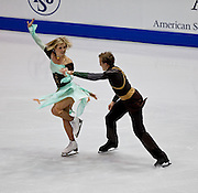 Nov 14, 2009: Zoe Blanc and Pierre-Loup Bouquet of France compete in the Ice Dance Original Dance competitionat Skate America 2009 at the Herb Brooks Arena in Lake Placid, N.Y. (ORDA Photo /Todd Bissonette)