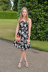 PETRA PALUMBO at The Ralph Lauren & Vogue Wimbledon Summer Cocktail Party at The Orangery, Kensington Palace, London on 22nd June 2015.  The event is to celebrate ten years of Ralph Lauren as official outfitter to the Championships, Wimbledon.
