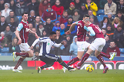 West Brom's Stephane Sessegnon shoots at goal - Photo mandatory by-line: Matt McNulty/JMP - Mobile: 07966 386802 - 08/02/2015 - SPORT - Football - Burnley - Turf Moor - Burnley v West Brom - Barclays Premier League