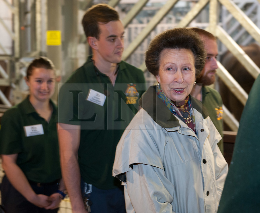 &copy; Licensed to London News Pictures. 17/12/2015. Wraxall, North Somerset, UK.  The Princess Royal, PRINCESS ANNE, opens &lsquo;Elephant Eden&rsquo; and elephant play zone at Noah&rsquo;s Ark Zoo Farm in Bristol. HRH The Princess Royal officially opened the 20 acre Elephant Eden habitat &ndash; the largest of its kind in northern Europe. Described as a &ldquo;five star hotel for elephants&rdquo; by international elephant management specialist Alan Roocroft, Elephant Eden saw the arrival of its first African elephant in 2014 and has had finishing touches to the complex completed this year along with the arrival of further elephants. Now home to two characterful bull elephants Janu and M&rsquo;Changa, Elephant Eden has been celebrated as offering welfare improvements to the industry and has been used as a helpful model for other collections to base their own building plans on, including international zoo colleagues from as far afield as Japan.<br />  Noah&rsquo;s Ark will also unveil its new Elephant Play Zone for children next to the elephant barn, which will include an impressive 4m high scale model elephant with built-in slide.<br /> Photo credit : Simon Chapman/LNP