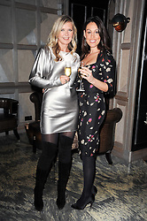 Left to right, AMANDA WAKELEY and LUCY RUSEDSKI at a dinner hosted by Ruinart in honour of Amanda Wakely at The Connaught, Carlos Place, London on 20th October 2010.
