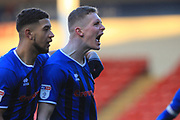 GOAL Ethan Hamilton celebrates scoring 1-2  during the EFL Sky Bet League 1 match between Walsall and Rochdale at the Banks's Stadium, Walsall, England on 2 February 2019.