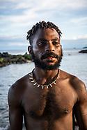 Zephaniah Kasiva, age 20, in Madang, Papua New Guinea