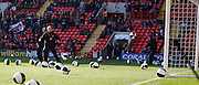 Charlton fans throw black and white beach balls on to the pitch just after kick off during the Sky Bet Championship match between Charlton Athletic and Middlesbrough at The Valley, London, England on 13 March 2016. Photo by Andy Walter.