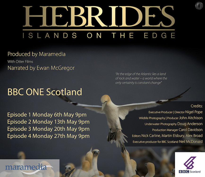 A tx card designed for Maramedia, to send out announcing their BBC Hebrides showing dates.