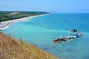 Vasto, Abruzzo/Italy-The sunny natural reserve beach of Punta Aderci.