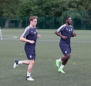Dundee new boys Scott Allan and Roarie Deacon during pre-season testing at University Grounds, Riverside, Dundee, Photo: David Young<br /> <br />  - &copy; David Young - www.davidyoungphoto.co.uk - email: davidyoungphoto@gmail.com