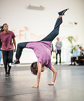 (c)Licensed to London News Pictures. 30/06/2014. London. England. UDance2014 Fringe performas at intu Broadmarsh, Nottingham. Part of the National Youth Dance Festival Fringe at UDance2014; the national youth dance festival created to share the breadth and diversity of youth dance that is being created in the UK and to train and inspire the dancers themselves, was in Nottingham. This year about 450 invited performers and roughly an additional 200 members of the public participated directly in the Fringe, some of whom are featured in this image. There were also approximately 650 invited young dancers participating performances and workshops. The festival was created by Youth Dance England working with Dance4 and a range of other partners. Photo credit Carole Edrich/LNP