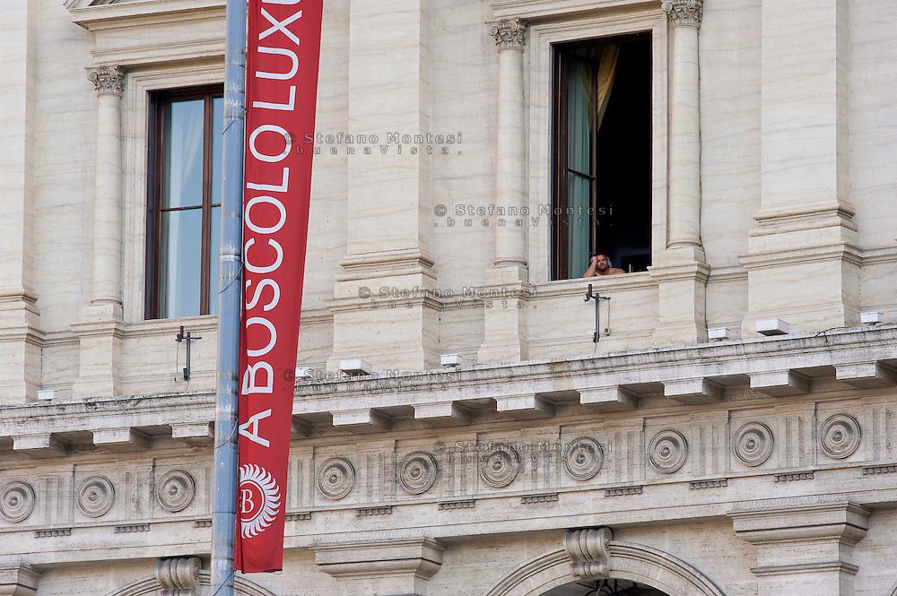 Roma 20 Giugno 2013<br /> Il Boscolo Luxury Hotel Exedra in piazza della Repubblica dove &egrave; morto attore James Gandolfini ,in vacanza con la famiglia, conosciuto per la parte del padrino  nella serie televisiva  The Sopranos.<br /> <br /> A view of Boscolo Luxury Hotel Exedra were award-winning actor James Gandolfini stayed with his family during vacation on June 20, 2013 in Rome, Italy. ' 'The Sopranos' actor James Gandolfini died of a suspected heart attack yesterday aged 51.