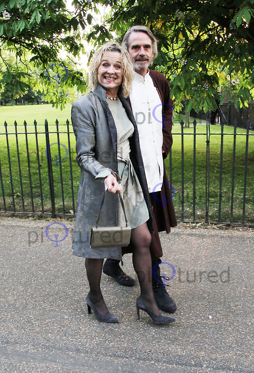 Sinead Cusack; Jeremy Irons, The Serpentine Gallery summer party, Kensington Gardens London UK, 26 June 2013, (Photo by Richard Goldschmidt)