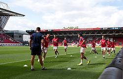 Players warm-up ahead of their game against Millwall - Mandatory by-line: Paul Knight/JMP - 19/08/2017 - FOOTBALL - Ashton Gate Stadium - Bristol, England - Bristol City v Millwall - Sky Bet Championship