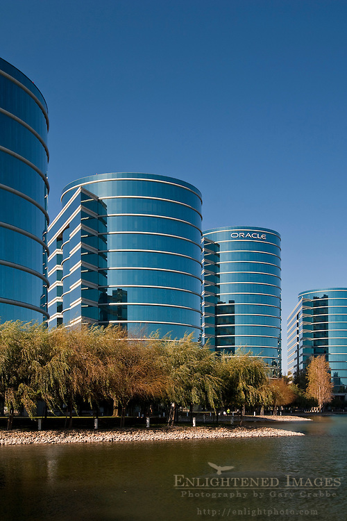 Oracle corporate headquarter office buildings, Redwood City, California