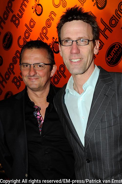 Buma Harpen Gala 2011 AWARDS vanuit de Vredenburg Leidsche Rijn , Utrecht.<br /> <br /> Op de foto:  Hans Schiffers en partner