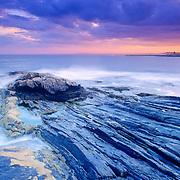 Rocky coast at Pemaquid Point. Bristol, Maine