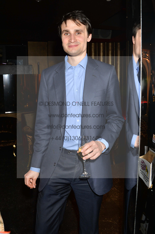 The EARL OF GLAMORGAN at the Pig Pledge Evening at Club no41, 41 Conduit Street, London on 10th March 2014.