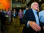 07 APRIL 2019 - OSKALOOSA, IOWA:  US Senator BERNIE SANDERS leaves a campaign event Sunday. Sanders held a town hall campaign event on the campus of  William Penn University in Oskaloosa. Sanders is one of dozens of Democratics who hope to be the party's nominee for the 2020 US Presidential election. Iowa holds the first in the country selection contest with state caucuses on Feb. 3, 2020.   PHOTO BY JACK KURTZ