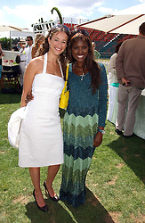 Left to right, LEAH WOOD and JUNE SARPONG at the Cartier International polo at Guards Polo Club, Windsor Great Park, on 30th July 2006.<br /><br />NON EXCLUSIVE - WORLD RIGHTS