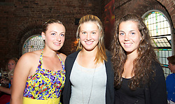 LIVERPOOL, ENGLAND - Thursday, June 17, 2010: Ana Bogdan (ROU), Eugenie Bouchard (CAN) and Ulrikke Eikeri (NOR) at Alma De Cuba on day two of the Liverpool International Tennis Tournament at Calderstones Park. (Pic by David Rawcliffe/Propaganda)