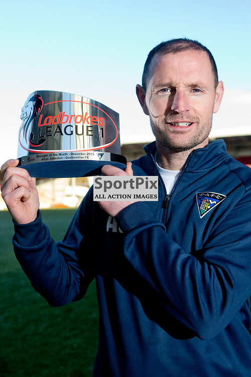 DAFC Manager Allan Johnston East End Park 14 January 2016<br /> Allan Johnston is named Ladbrokes league 1 manager of the month for December<br /> (c) CRAIG BROWN | SportPix.org.uk