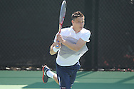 Ole Miss' Jonas Lutjen vs. Baylor at the Palmer/Salloum Tennis Center in Oxford, Miss. on Thursday, March 14, 2013.