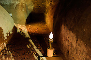 Roma, 24 Marzo 2013.Commemorazione per il 69° anniversario dell'eccidio delle Fosse Ardeatine,compiuto a Roma dalle truppe di occupazione della Germania nazista il 24 marzo 1944, furono uccisi, 335 civili e militari italiani. La grotta del massacro