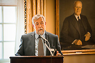 The Rev. Fredric Hinz, assistant to the president of the LCMS Minnesota South District, addresses guests at the Let's Talk Life, Marriage and Religious Liberty event on Tuesday, September 8, 2015, a the Capitol Hill Club in Washington, D.C. LCMS Communications/Erik M. Lunsford