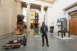 "© Licensed to London News Pictures. 18/03/2019. London, UK. Artist Mike Nelson with his work titled The Asset Strippers"" showing in the Duvee Galleries of The Tate Britain. Photo credit: Ray Tang/LNP"