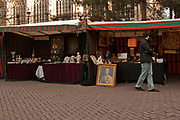 Saturday flea Market at Place du Jeu de Balle, Brussels, Belgium