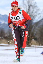 17.03.2017, Ramsau am Dachstein, AUT, Special Olympics 2017, Wintergames, Schneeschuhlauf, Divisioning 800 m, im Bild Nancy Leduc (CAN) // during the Snowshoeing Divisioning 800 m at the Special Olympics World Winter Games Austria 2017 in Ramsau am Dachstein, Austria on 2017/03/17. EXPA Pictures © 2017, PhotoCredit: EXPA / Martin Huber