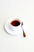 A cup of Espresso On white background