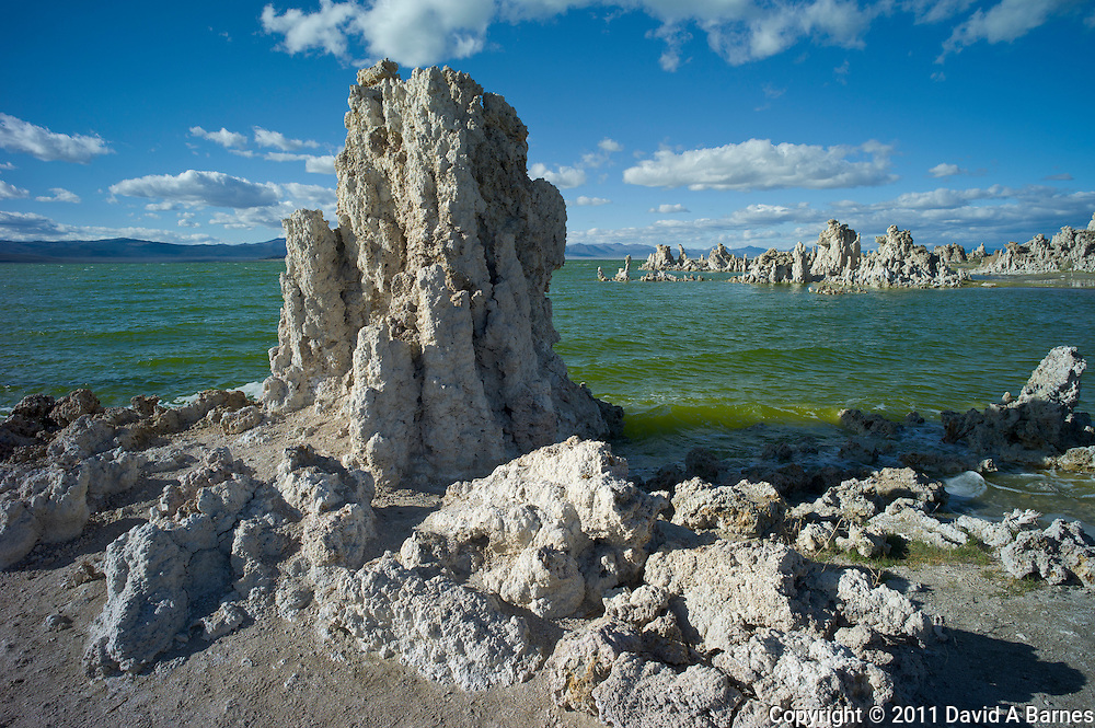 Stacks of tufa on Mono Lake, California, USA
