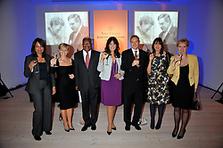 Left to right, RUBY McGREGOR-SMITH, HARRIET GREEN, SIR TREVOR MACDONALD, GAIL REBUCK and GRAHAM BOYES, CATH KIDSTON and KATE BLEASDALE at the presentation of the Veuve Clicquot Business Woman Award 2009 hosted by Graham Boyes MD Moet Hennessy UK and presented by Sir Trevor Macdonald at The Saatchi Gallery, Duke of York's Square, Kings Road, London SW1 on 28th April 2009.