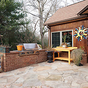 CHERRY HILL, NJ - DECEMBER 23, 2016: The outdoor kitchen in the rear of the property just outside of the main kitchen. 9 Gwen Court, Cherry Hill, NJ. Credit: Albert Yee for the New York Times