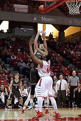 29 December 2014:   Scott Hahn, Will Ransom during an NCAA non-conference interdivisional exhibition game between the Quincy University Hawks and the Illinois State University Redbirds at Redbird Arena in Normal Illinois.
