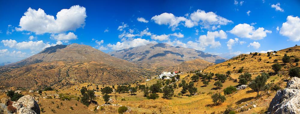 The Psliloritis mountain range taken from the village of Agios Pavlos in Rethymnon, Crete.
