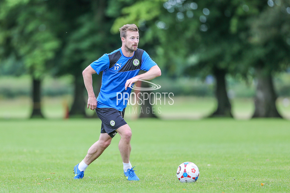 Trialist, Wade Elliott during the Forest Green Rovers Training at the Cirencester Agricultural College, Cirencester, United Kingdom on 12 July 2016. Photo by Shane Healey.
