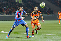 Julien FERET/ Walid MESLOUB - 14.03.2015 - Lorient / Caen - 29eme journee de Ligue 1<br /> Photo : Vincent Michel / Icon Sport
