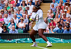 LONDON, ENGLAND - Wednesday, July 4, 2018: Serena Williams (USA) on day three of the Wimbledon Lawn Tennis Championships at the All England Lawn Tennis and Croquet Club. (Pic by Kirsten Holst/Propaganda)