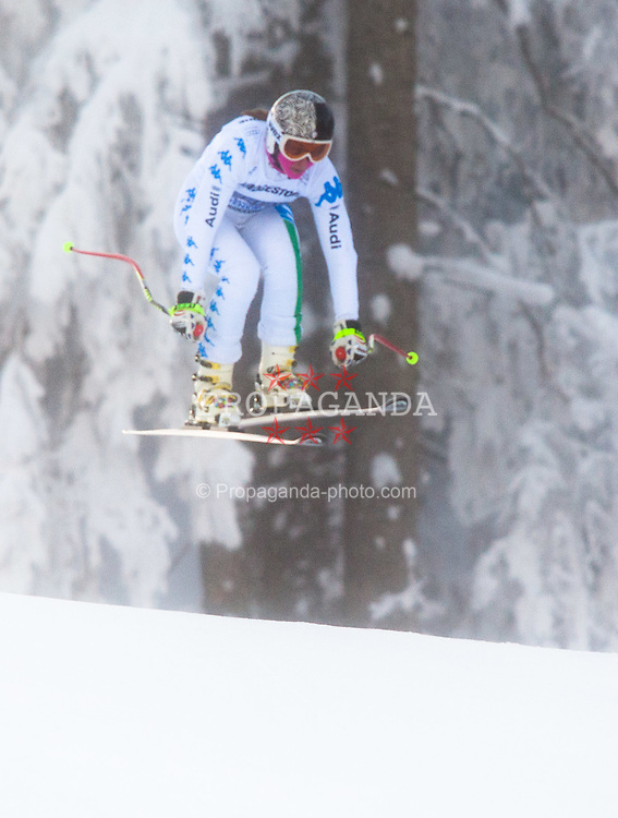03.02.2012, Kandahar, Garmisch Partenkirchen, AUT, FIS Weltcup Ski Alpin,  Damen, Abfahrt 2. Training, im Bild Margot Bailet (FRA) // Margot Bailet of Franceduring 2nd Downhill practice run of FIS Ski Alpine World Cup at 'Kandahar' course in Garmisch Partenkirchen, Germany on 2012/02/03. EXPA Pictures © 2012, PhotoCredit: EXPA/ Johann Groder
