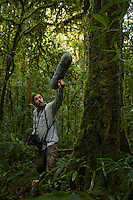 Edwin Scholes records bird calls as part of documentation of the biodiversity of the Foja Mountains.  Montane forest at approx 1650 m elevation.