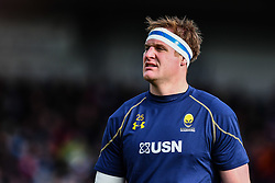 GJ van Velze of Worcester Warriors during the pre match warm up - Mandatory by-line: Craig Thomas/JMP - 10/02/2018 - RUGBY - Sandy Park Stadium - Exeter, England - Exeter Chiefs v Worcester Warriors - Aviva Premiership
