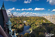 View from the terrace of Tommy Hilfiger's dome penthouse at The Plaza in New York City, overlooking Central Park.