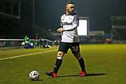 Wayne Rooney in action during the The FA Cup match between Northampton Town and Derby County at the PTS Academy Stadium, Northampton, England on 24 January 2020.