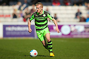 Forest Green Rovers midfielder Marcus Kelly (10) in action  during the Vanarama National League match between Lincoln City and Forest Green Rovers at Sincil Bank, Lincoln, United Kingdom on 25 March 2017. Photo by Simon Davies.