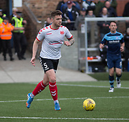 Clyde's (on loan from Dundee) central defender Kerr Waddell during Forfar's 3-0 win over Clyde in SPFL League Two  at Station Park, Forfar, Photo: David Young<br /> <br />  - &copy; David Young - www.davidyoungphoto.co.uk - email: davidyoungphoto@gmail.com