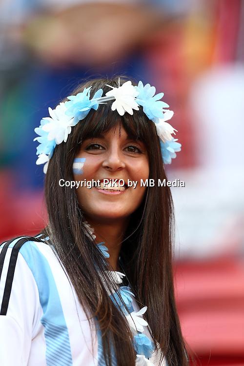 Fifa Soccer World Cup - Brazil 2014 - <br /> ARGENTINA (ARG) Vs. BELGIUM (BEL) - Quarter-finals - Estadio Nacional Brasilia -- Brazil (BRA) - 05 July 2014 <br /> Here Argentine fan.<br /> &copy; PikoPress