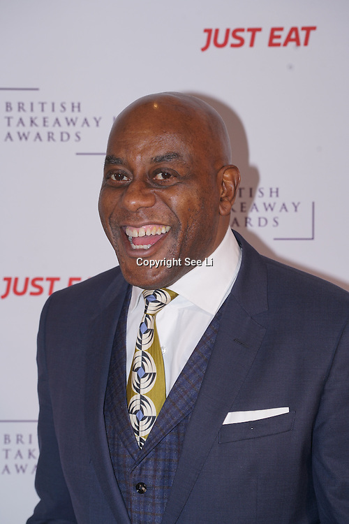 Ainsley Harriot attends The British Takeaway Awards 2016, Monday 5th December at The Savoy in London,,UK. Photo by See Li